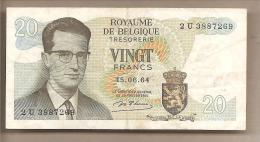 Belgio - Banconota Circolata Da 20 Franchi P-138a.1 - 1964 - [ 6] Tesoreria