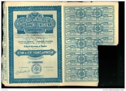 L 2013 06 01 Lot De 28 Titres   Compagnie Minière Franco-tunisienne 12 Titres Bleu + 16 Marrons - Industrie