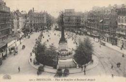 BELGIQUE - BRUXELLES - PLACE DE BROUCKERE ET BOULEVARD ANSPACH - Places, Squares