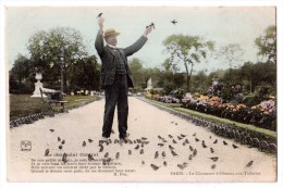 Paris - Le Charmeur D'Oiseaux Aux Tuileries ( Avec Verso ) - District 01
