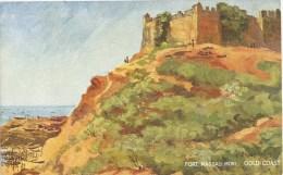 Gold Coast Ghana Fort Nassau Drawn By Cheesman Tuck´s Post Card - Ghana - Gold Coast