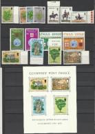 1975 Guernsey ANNATA  YEAR Completa Di 15 Valori + BF1 Victor Hugo (109/23) MNH** - Guernesey