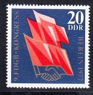 ALEMANIA DDR 1977.YVERT Nº 1895. 9º CONGRESO DE LA UNION DE SINDICATOS  .NUEVO SIN CHARNELA  SES579 - [6] República Democrática