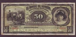 MEXICO - 50 Pesos - Banco De Sonora - Mexiko