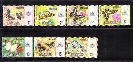 Malaysia Malacca 1971 Butterfly Set MNH - Malaysia (1964-...)