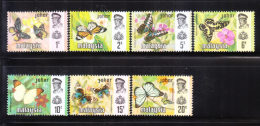 Malaysia Johore 1971 Butterfly Set MNH - Malaysia (1964-...)