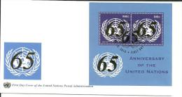 UNO New York 2010 FDC 65 Jahre UNO - New-York - Siège De L'ONU