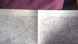 Rethel  -   Carroyage Kilometrique  -  Projection Lambert  -  Zone De Guerre Nord - Carte Geographique
