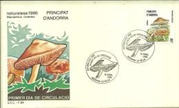 FDC ANDORRA ESP. 1986 - Funghi