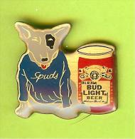 Pin Bière Budweiser Bud Light Beer Chien Spuds MacKenzie Canette - 4S26 - Bière