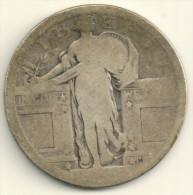 USA  1917 Standing Liberty Silver Quarter Dollar  Var. 1 - Philadelphia Mint - AG - 1916-1930: Standing Liberty (Libertà In Piedi)