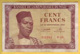 MALI - Billet De 100 Francs. 22-09-1960.  Pick: 2. TTB - Mali