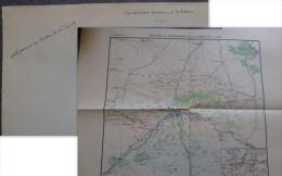 MOTHIER De La FAYETTE, Mention Manuscrite Sur Carte Guerre 1870 Batailles Autour D´ D´ORLEANS, Ref 337 - Autógrafos