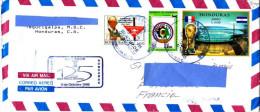 5] Superbe Enveloppe Cover Honduras Stade Stadium Coupe Du Monde Football Lady Di Diana World Cup Non Dentelé Imperf - Honduras