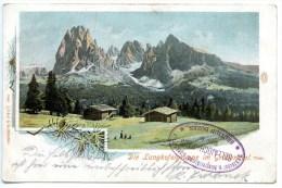 Langkofel - Gruppe, Grödental, 1907, Auto-Chrom,Fränzl & Co. 2365, Südtirol - Non Classés