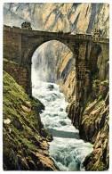 Gotthardstrasse , Teufelsbrücke, Andermatt, 29.7.1909, Wehrli A.G., - UR Uri
