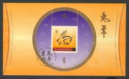 Canada 1999 FDC + Mi 1740 ** Year Of The Rabbit – Chinese New Year / Hase, Chinesische Schriftzeichen - Astrologie