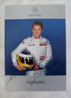 Carte Photo Automobile Publicitaire Dédicacée Nick Heidfeld - F1 Mercedes-Benz 2007  (dedicated Card) - Unclassified