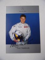 Carte Photo Automobile Publicitaire Dédicacée Peter Dumbreck - F1 Mercedes-Benz   (dedicated Card) - Unclassified