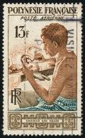 POLYNESIE 1958 - Yv. PA 1 Obl.   Cote= 5,00 EUR - Graveur Sur Nacre ..Réf.POL22114 - Gebruikt