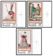 POLYNESIE 1985 - Yv. 238 à 240 ** TB Bdf  Croix  Faciale= 1,37 EUR - Folklore ; Gravures Anciennes (3 Val.) ..Réf.POL219 - Nuevos