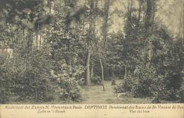 Deftinge    Pensionnat,   La Grotte;  RELAIS Stempel  -   1923   Naar Sint-Nikolaas - Lierde