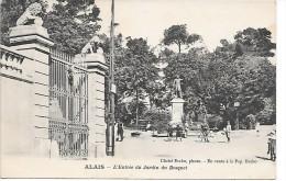 ALES - ALAIS - L'entrée Du Jardin Du Bosquet - Alès