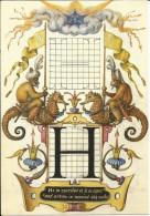 CPM Enluminure, Calligraphie, Lettre H / Hippocampe, Singes, Costume Oriental, à Cheval, Sabre / Texte Latin - Ohne Zuordnung