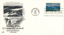 USA FDC 26-6-1984 Opening Of The St. Lawrence Seaway With Art Craft Cachet - First Day Covers (FDCs)