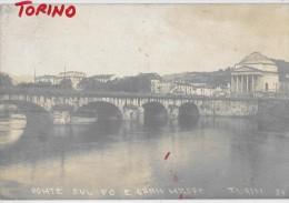 PIEMONTE-TORINO PONTE SUL PO E GRAN MADRE VEDUTA PRIMI 900(TIPO FOT.) - Bridges