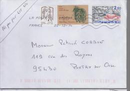 France Lettre - Poststempel (Briefe)