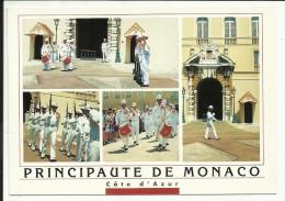 Principauté De MONACO , Photo : F. Carlicchi , CPM ANIMEE - Palais Princier