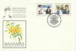 Bahamas 1981 Royal Wedding FDC