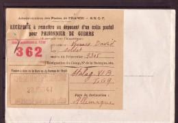 Récepisséd'un Colis Postal Pour P.G,+Avis De Réception,voir Les Scans - Storia Postale