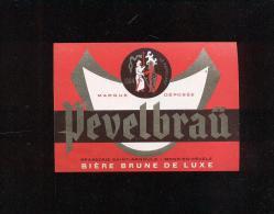 Etiquette De Bière   -  Pevelbraü  -  Brasserie Saint Arnould  à  Mons En Pévèle  (59) - Bière