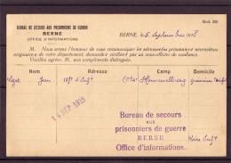 BERNE,bureau De Secours Au P.G.Pour Lizet Jean,Loire Inf Voir Les Scans - Storia Postale