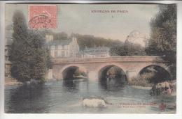 VILLENEUVE SAINT GEORGES 94 - Le Pont Sur L'Yerre - CPA Colorisée - Val De Marne - Villeneuve Saint Georges