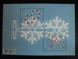 Belgi� Belgium Slovenia 2014 gemeenschappelijke uitgifte kristallografie / Joint issue Crystallography SS