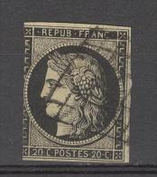 CERES NR 3 GEST. - COTE EURO 55,00 - 1849-1850 Cérès