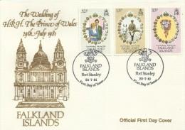 Falkland Island 1981 Royal Wedding FDC - Falkland Islands
