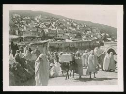 Photo : MOULAY IDRISS ZERHOUN (Maroc), Place Du Souk, Animée, TBE, Ane - Lieux