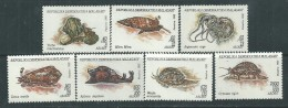 Madagascar N° 1151 / 57  XX  Faune : Les Mollusques, Les 7 Valeurs Sans Charnière, TB - Madagascar (1960-...)