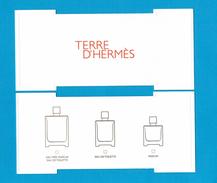 Cartes Parfumées Carte TERRE D'HERMÈS De HERMES - Perfume Cards