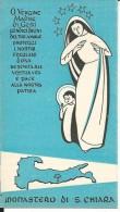 CAL067 - CALENDARIETTO 1955 - MONASTERO DI S. CHIARA - ROMA - Calendari