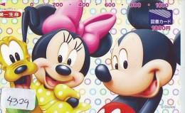 Télécarte  JAPON DISNEY * MICKEY Goofy   (4329) JAPAN Phonecard * TELEFONKARTE - Disney