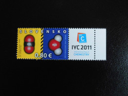 Belgi� Belgium Slovakia 2011 joint issue - International Year of Chemistry - Slovak stamp / Slovaakse postzegel