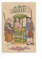 11220/a  -   Les Petits Métiers Au XVIIIe  La Mme De Fleurs Par E. Maudy (Format 10X15) - Artisanat