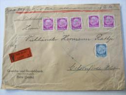 1935, Wertbrief ( Rückschein )  Aus Halle Mit 204 Pfg. Frankatur - Briefe U. Dokumente