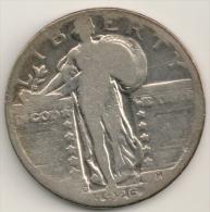 USA  1926d Standing Liberty Silver Quarter Dollar  - Denver Mint - G - 1916-1930: Standing Liberty (Libertà In Piedi)