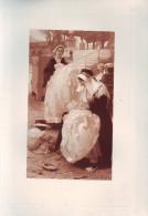 LITHOGRAPHIE  H. ETCHEVERRY  Les Nounous  Ariègeoise Et Bretonne - Stiche & Gravuren